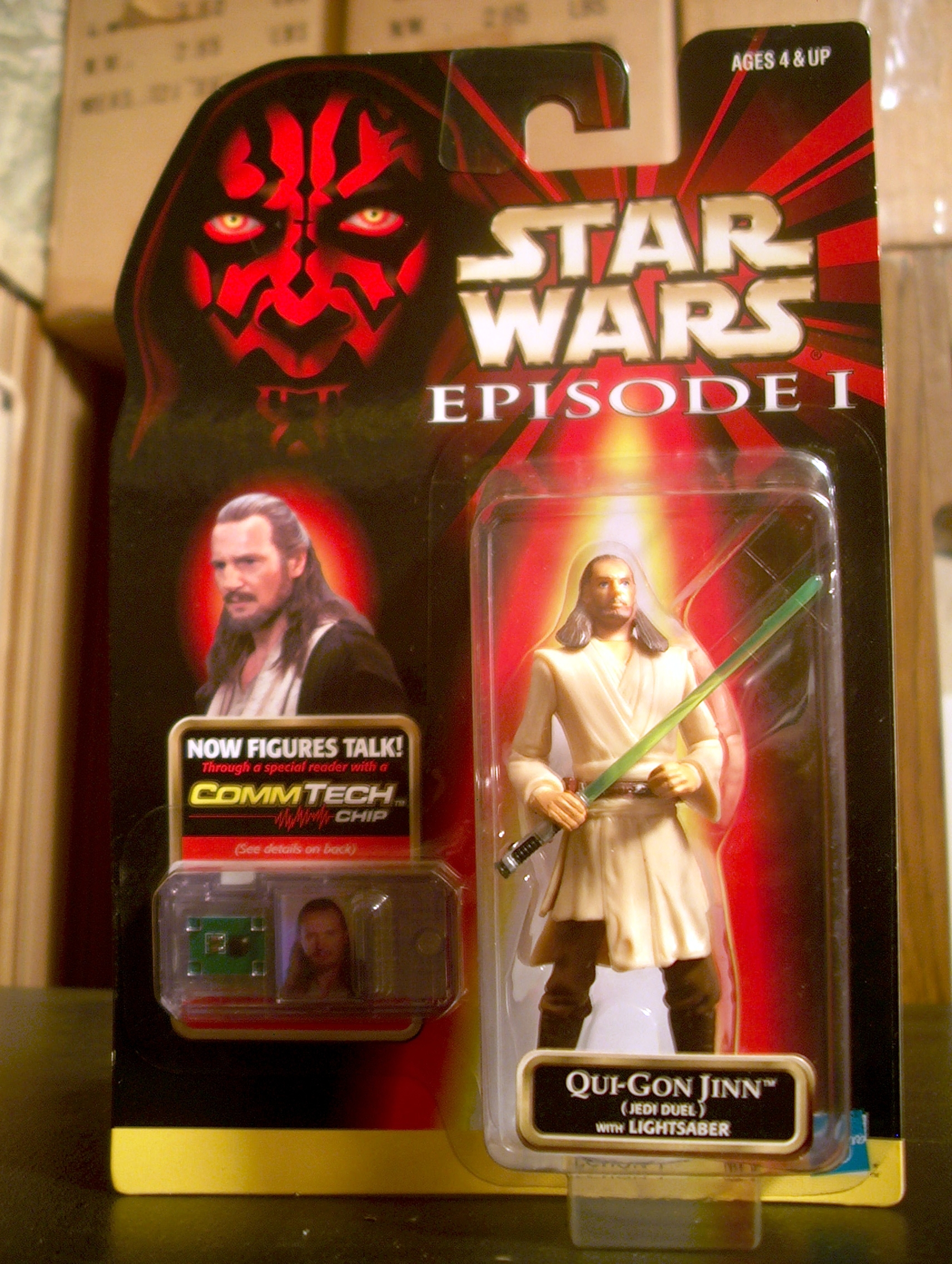Qui-Gon Jinn (Jedi Duel) with Lightsaber (.00)