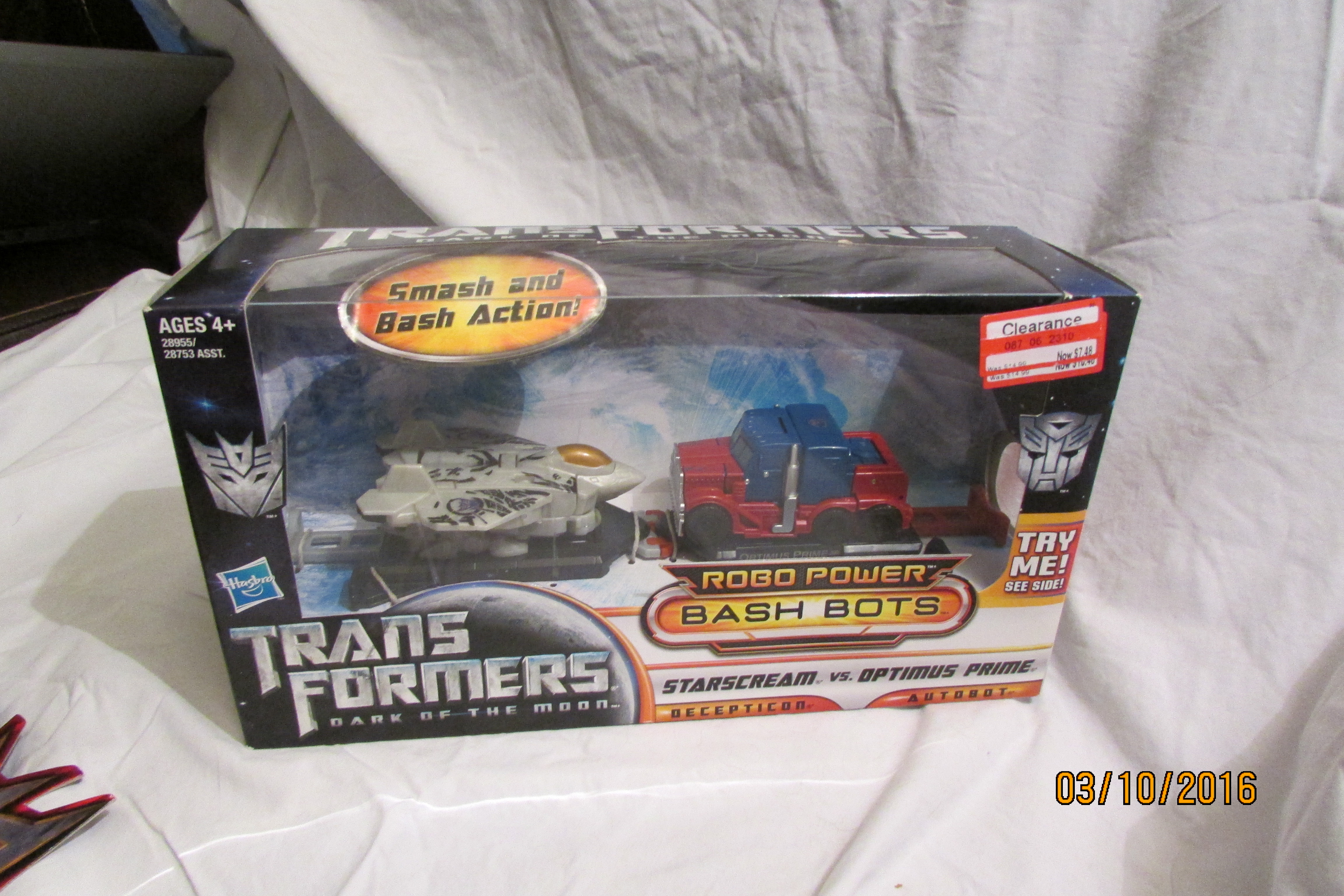 Optimus Prime Vs. Starscream (2-Pack)