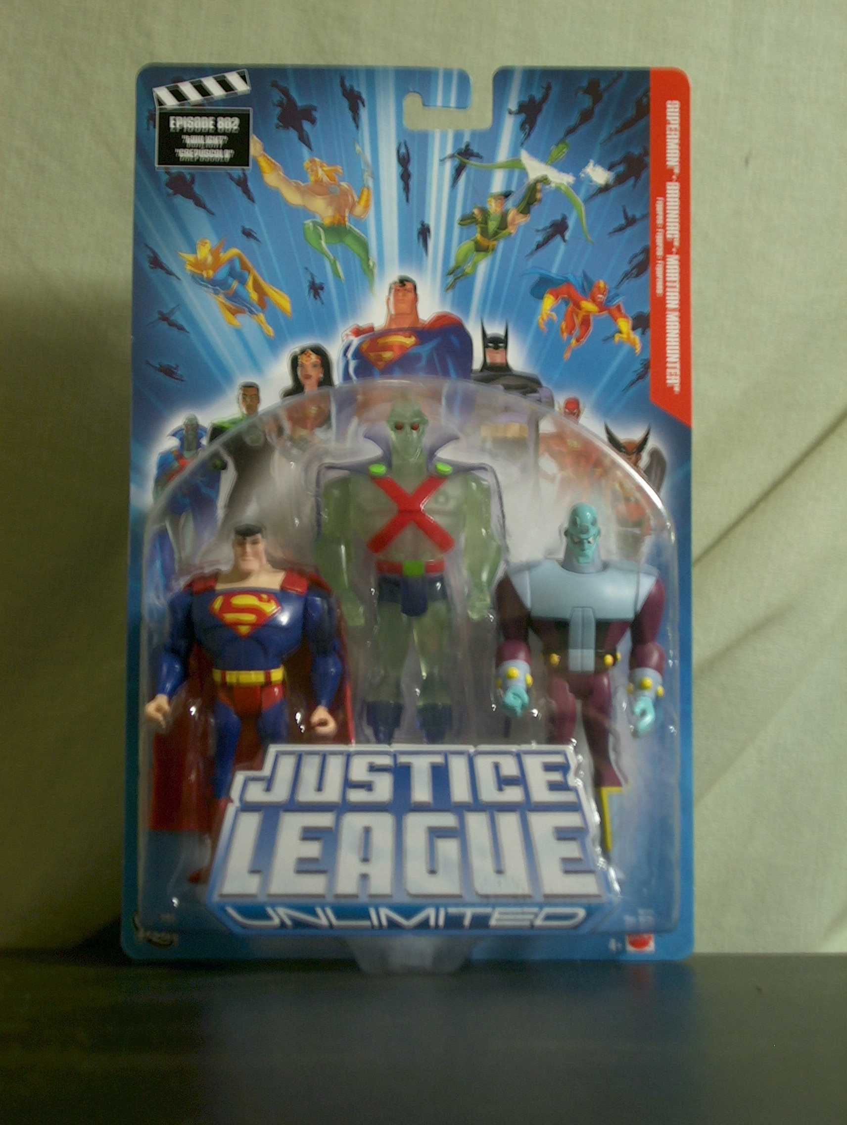 Superman - Brainiac - Martian Manhunter (3-pack)non translucent