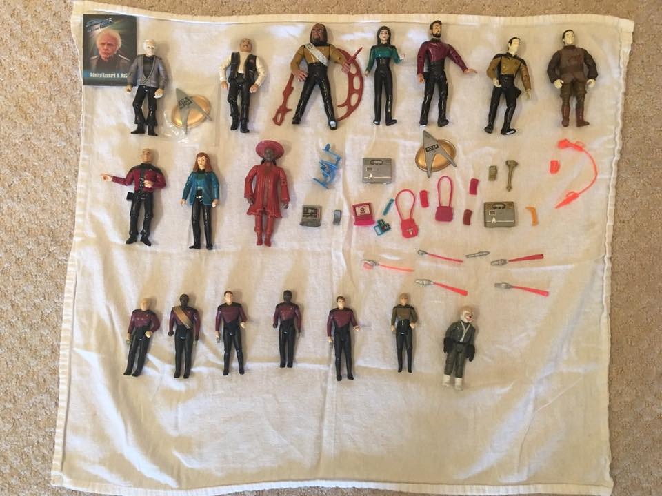 Lot - The Next Generation Playmates and Galoob Action Figures