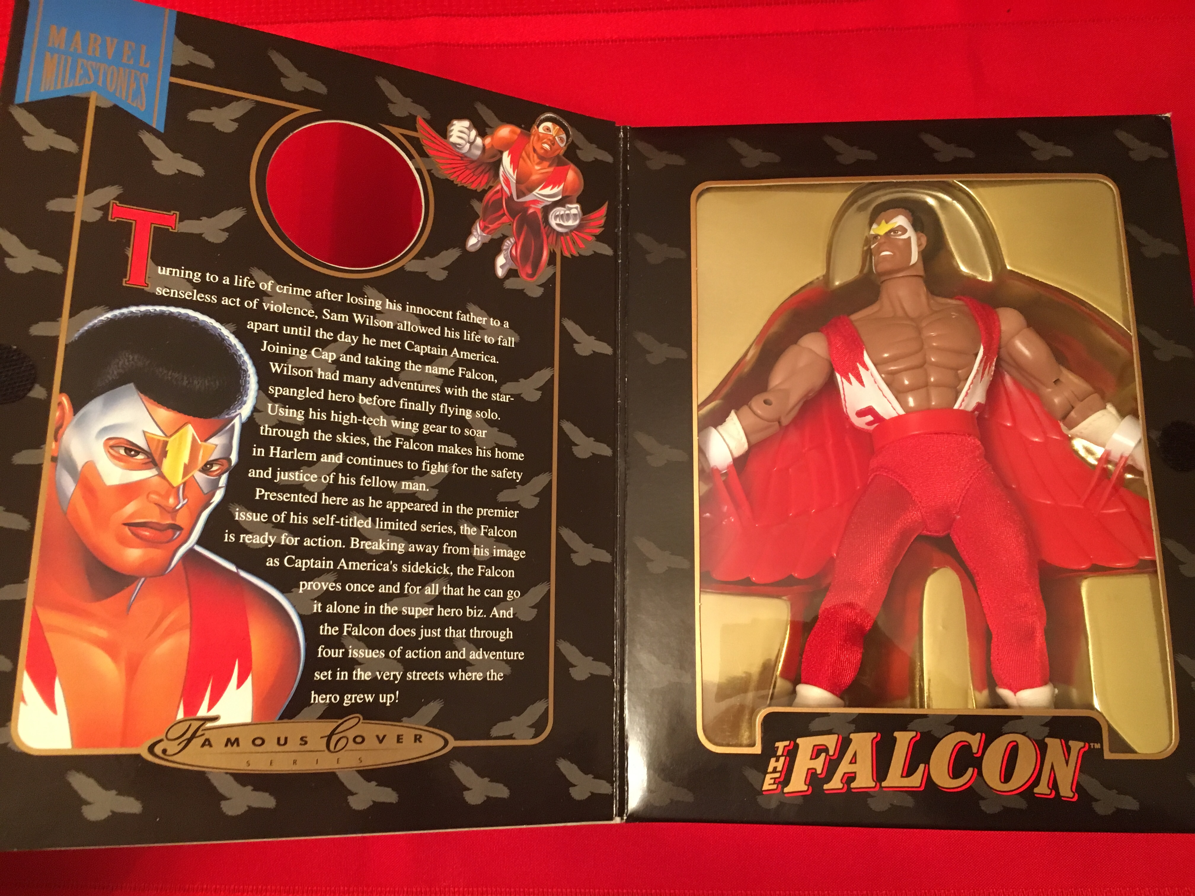 "1998 Famous Cover Series ""The Falcon""  Toy Biz, Inc. 03511248263"