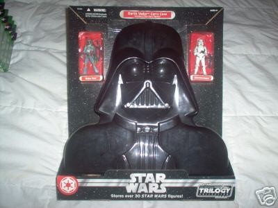 Darth Vader Carry Case - Includes 2 Star Wars Figures! (Boba Fett - Stormtrooper)