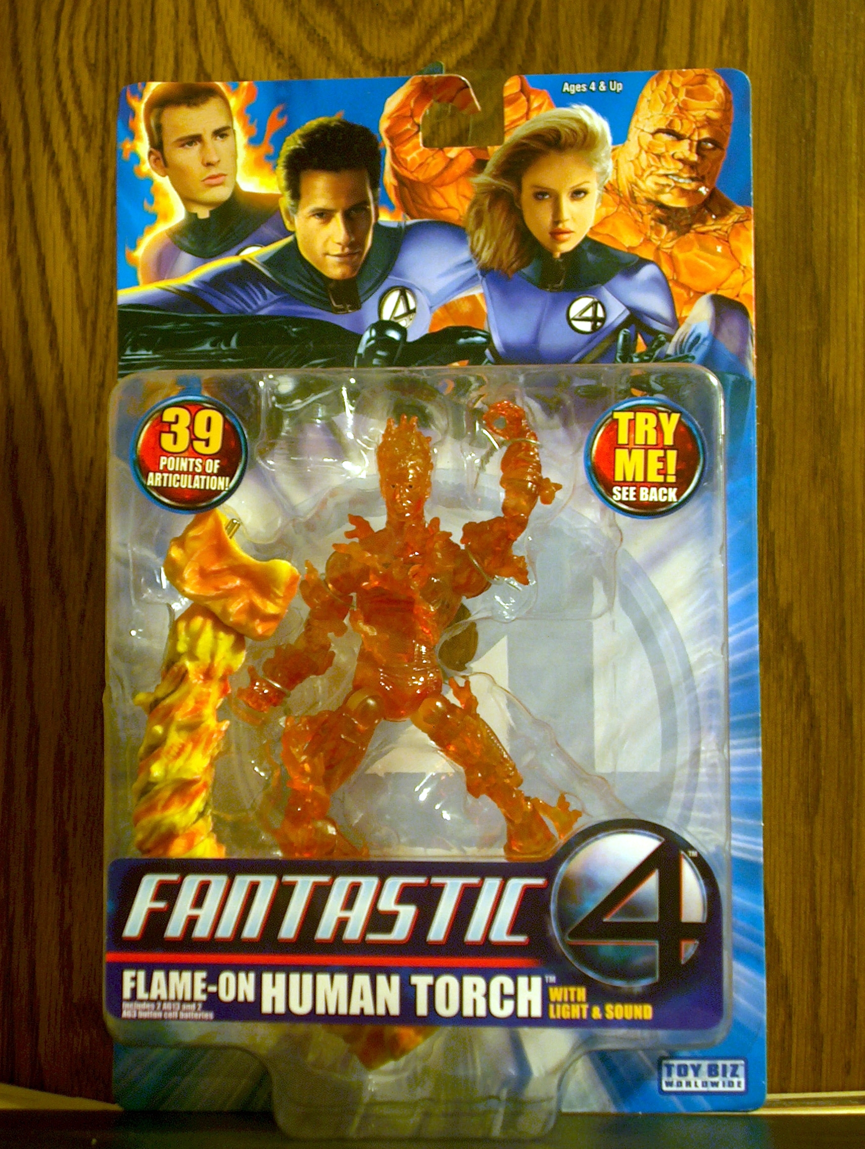 Fantastic Four (Movie) Human Torch (Flame-On)