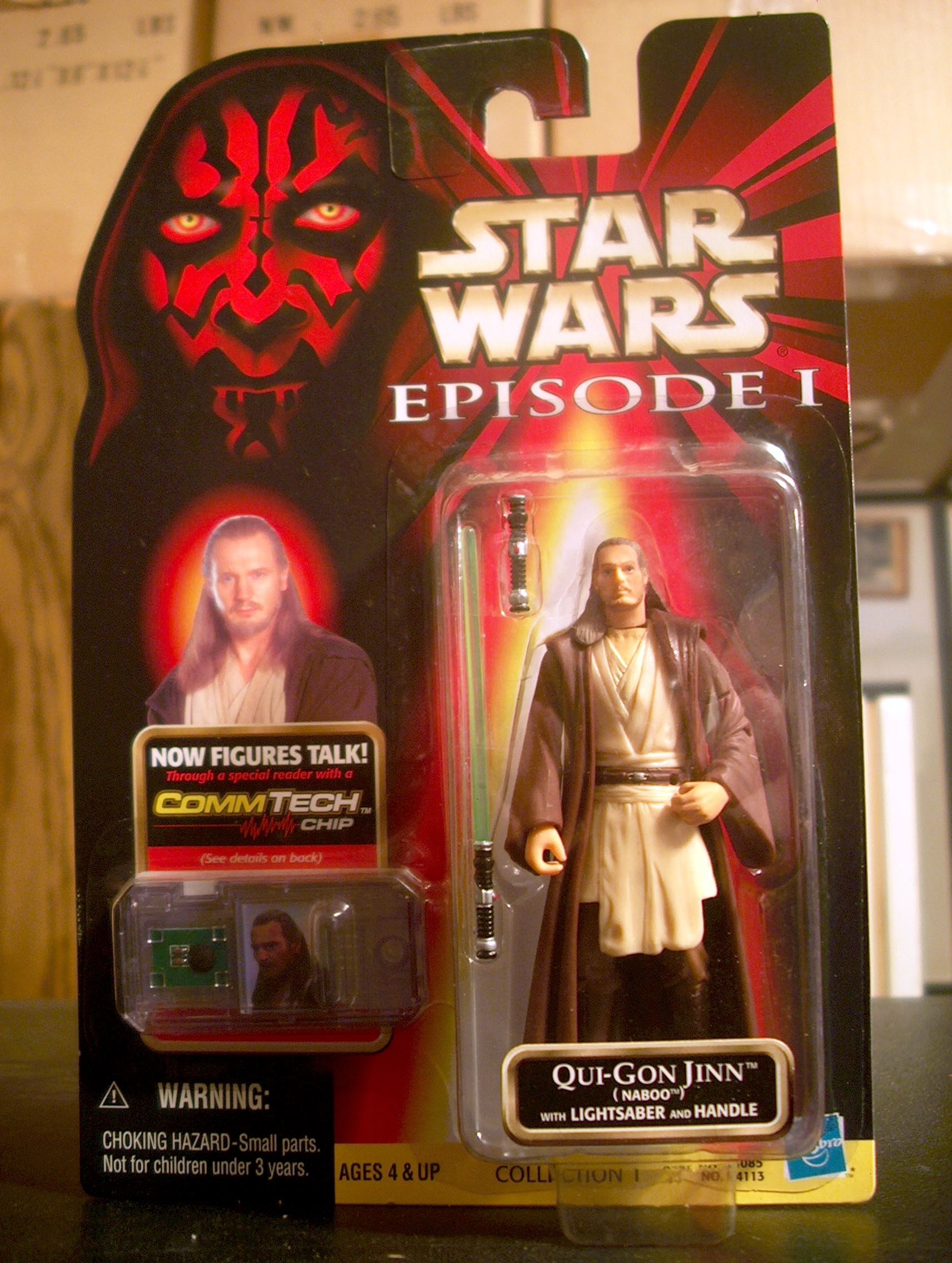 Qui-Gon Jinn (Naboo) with Lightsaber and Handle (.0100)