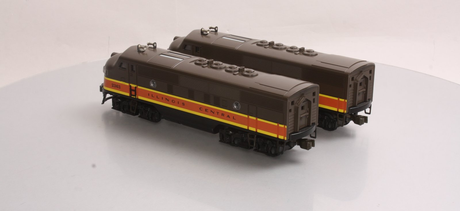 Williams 2363 Illinois Central F3 AA Diesel Loco Set LN/Box Williams 2363