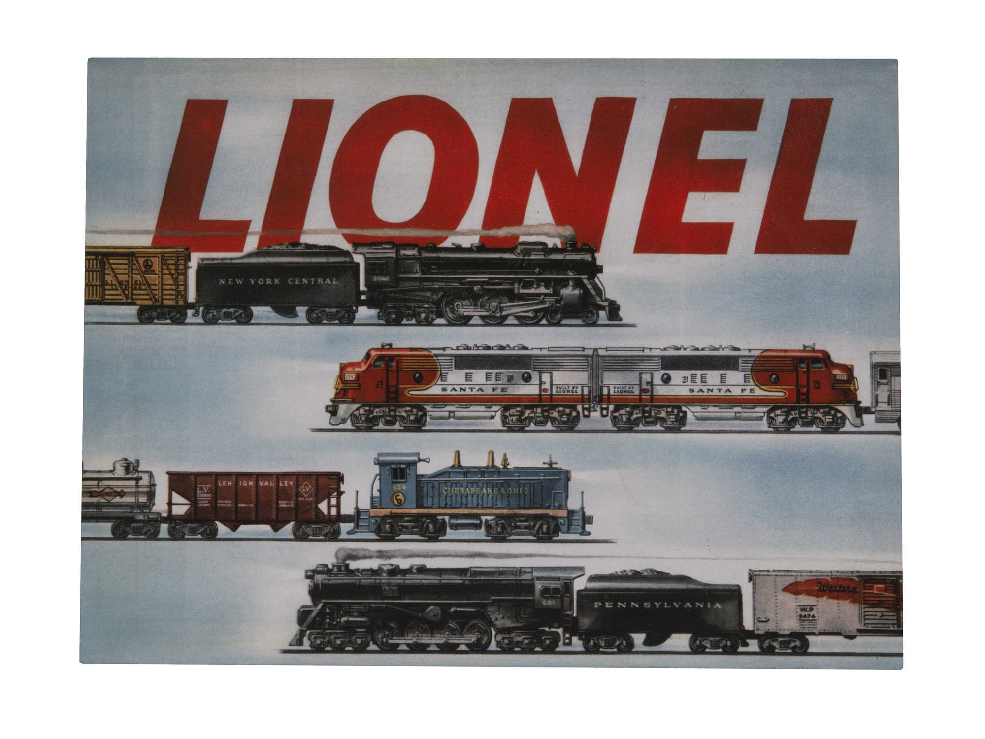 Buy Lionel 9-42066 O Lionel Post War 1954 Catalog Cover Iron