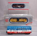 Williams O Gauge Freight Cars: State of Maine, Canadian Pacific & Reading [3] -