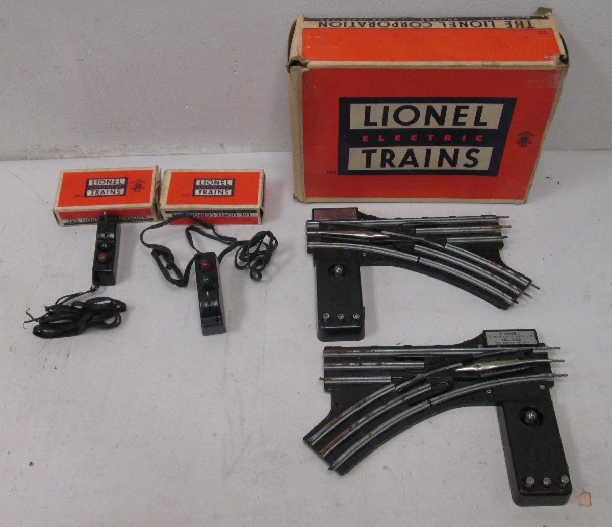 Buy Lionel O Gauge Postwar O22 Remote Switches Rcs Control 022 Pair Of Ogauge Controlled Complete Track Box