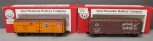 InterMountain O Freight Cars: PFE Reefer #42603 &  ATSF Boxcar #148152 [2] LN