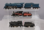 HO Scale Baltimore & Ohio and Southern Pacific Steam Locomotives with Tenders [3