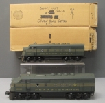 Lionel 2343 F3 AA Diesel Locomotive Set- Repainted/Redecorated for PRR/Box