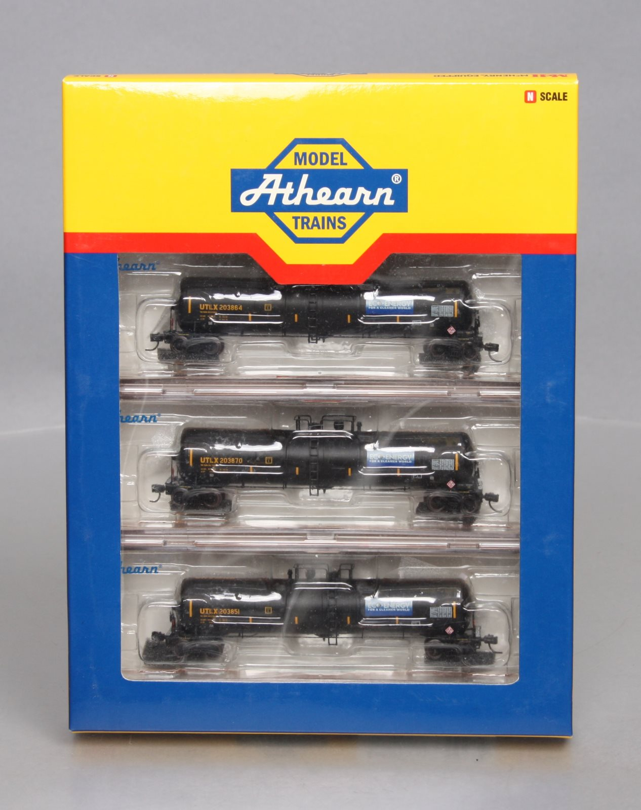 Buy Athearn 10603 N Scale UTLX 30K Gallon Ethanol 3-Car Tank