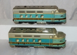 CLEAN Marx #62 Baltimore & Ohio AA diesels B&O tinplate O27 1953-54 Cat#294D blu