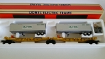 Lionel 6-16363 Southern TTUX Flat Car Set W/Southern Trailers