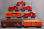 Lionel O Scale Assorted Postwar Freight Cars; 6057, 6257, 6257, 6257, 6646, 6646