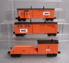 MTH O Gauge Amtrak Work Train Freight Cars [3] EX  MTH