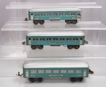 Lionel 1630S 3-Car Pullman Set (Blue w/silver trim)