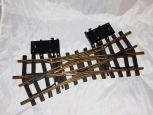 G scale LGB 1226 Double Slip Electric Switch Turnout used 22.5 Degree Brass G