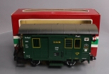 LGB 3019 Green 4-Wheel Mail Post Car w/Lights & Metal Wheels/Box