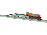 American Flyer 6-47983 S Piggyback Unloader with Union Pacific Flatcar and Trail