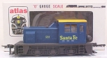 Atlas 6121 O Scale Santa Fe WDT Industrail Switcher - 2 Rail LN/Box