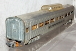 American Flyer 662 Aluminum Vista Dome Car Metal lighted Passenger 1950s Link S