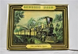 RARE Genesee Beer Lighted Sign EXPRESS TRAIN Currier & Ives 1960s Man Cave lit