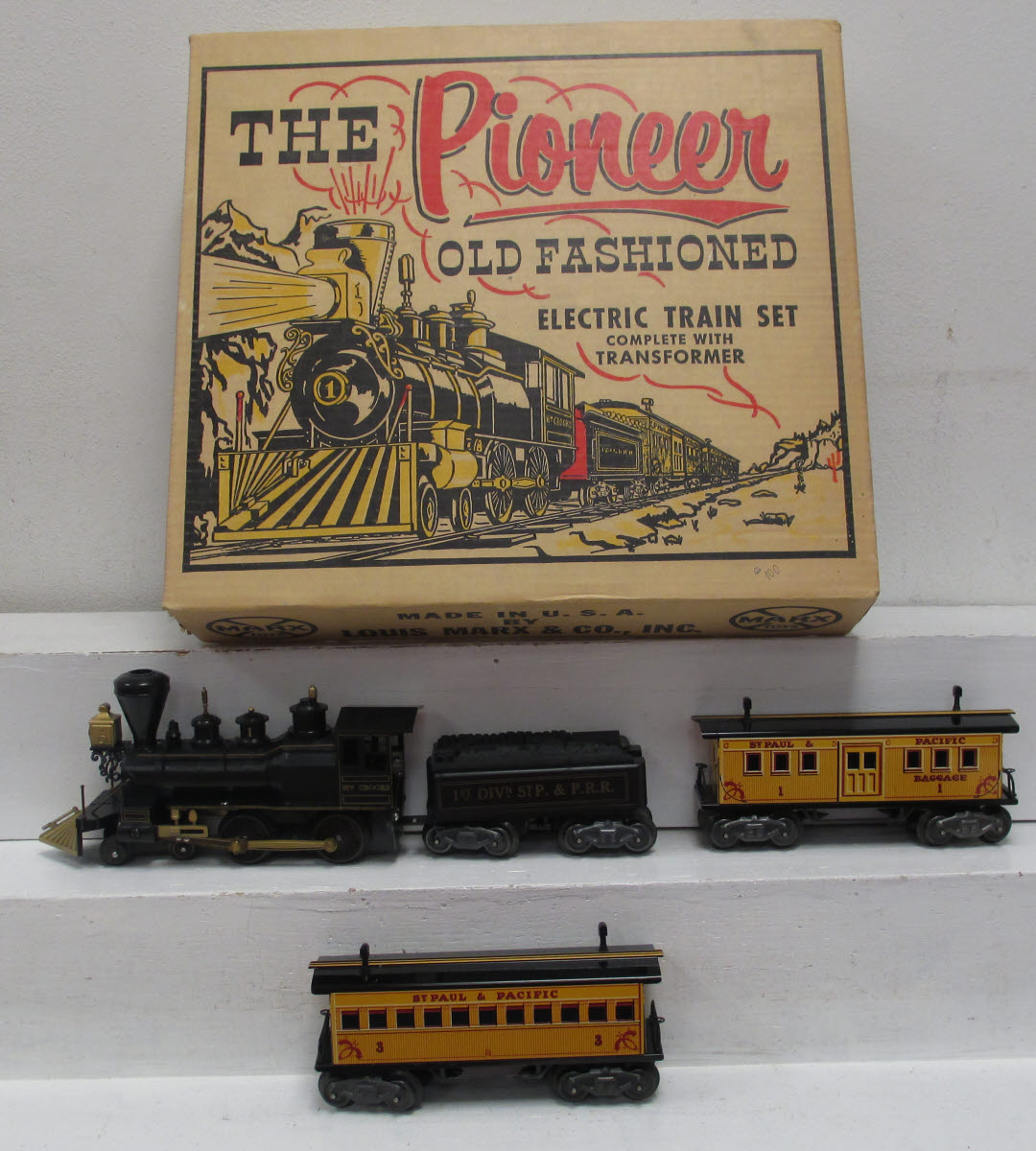 Buy Marx 54732 The Pioneer Old Fashioned Electric Train Set/Box
