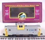 MTH 20-90019F O Gauge CSX Extended Vision Caboose #900242 LN/Box