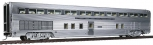 Walthers 9761 HO Santa Fe 85' Budd Step-Down Hi-Level Coach with Tail Sign  MT
