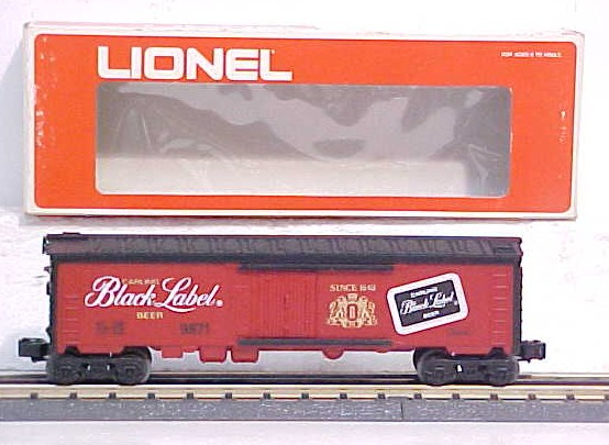 Lionel 6-9871 Black Label Beer Billboard Reefer Car LN/Box 023922698711 Lionel 6-9871