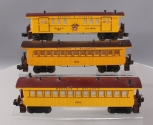 Lionel Western & Atlantic Baggage and Passenger Cars: 6-1865, 6-9551, 6-9552 [3]