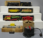 American Flyer 561 Steam Loco/Tender w/Freight Cars, Transfomer & Uncoupler/Box