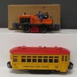Lionel 50 Motorized Gang Car & 60 Lionelville Motorized Rapid Transit Trolley