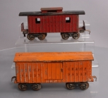Lionel 114 Chicago Milwaukee and St. Paul Prewar Boxcar & 4351 NYC&HRRR Caboose