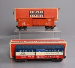 Lionel O Postwar Boxcars: 6464-25 Great Northern and 6464-275 State of Maine/Box