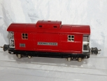 Clean Lionel prewar 2817 Red Caboose Nickel Plates Aluminum end rails auto coupl