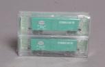 Deluxe Innovations 142302 N Scale Pittsburgh & Lake Erie 40' AAR Boxcar (Pack of