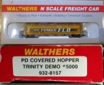 Walthers 932-8157 N Scale Trinity Demo PD Covered Hopper #5000 LN/Box