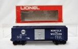 Lionel Trains 6-9215 Norfolk & Western Boxcar w/ original red &white box O Gauge