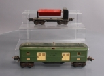 Lionel 2615 Two-Tone Green Tinplate Pullman Car & 3659 Operating Dump Car
