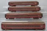 Custom Built & Painted HO Scale Passenegr Cars (4)