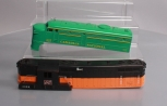 Lionel 227 Canadian National Diesel Shell & 2338 Milwaukee Road Diesel Shell