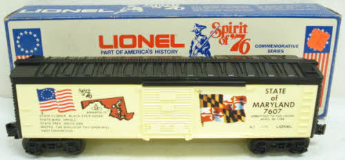 Lionel 6-7607 State of Maryland Boxcar LN/Box 023922676078 Lionel 6-7607