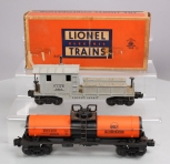 Lionel 6419 Wrecking Car & 6315 Gulf Single Dome Tank Car
