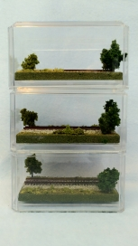 Z SCALE DISPLAY CUBE - 3 Pack
