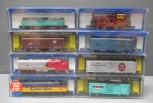 Bachmann N Scale Locomotives With Freight Cars & Powerpack EX