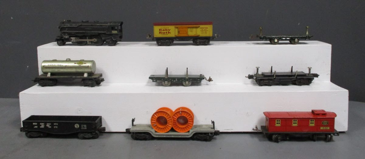 Lionel & Marx O Gauge Prewar/Postwar Freight Cars & Steam Engine: 999, 2452, 168  Lionel