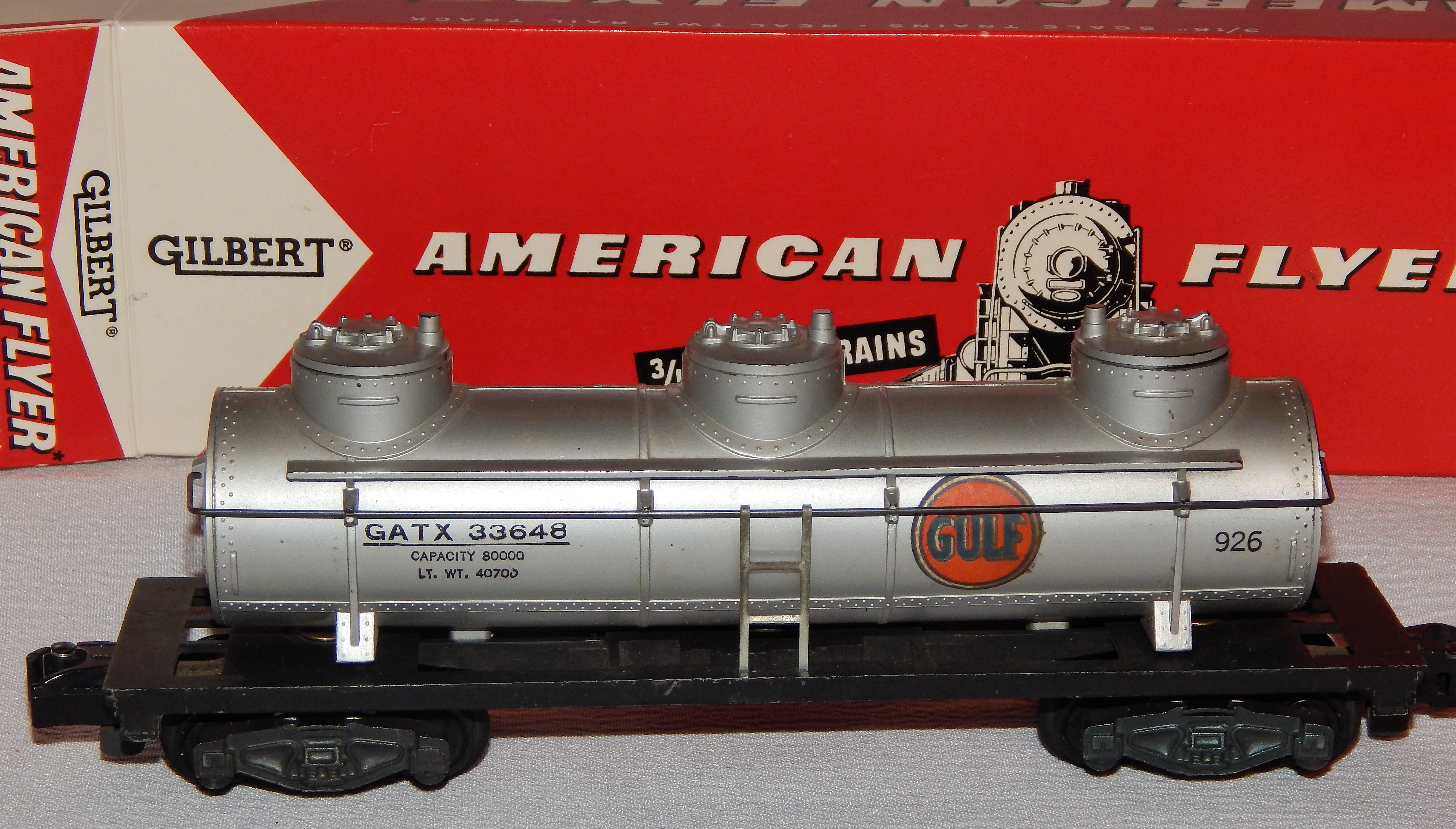 TANK CAR DOME RED AMERICAN FLYER S Gauge Trains
