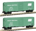 Deluxe Innovations 130302 N Scale Penn Central 40' AAR Boxcar (Pack of 2) NIB